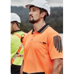 Men's Hi Vis Flux s/s polo - ZH315