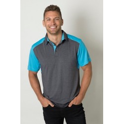 Mens Charcoal Heather soft touch polo - BKP401