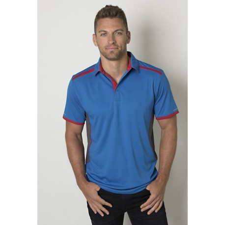 Mens Polo with contrast shoulder panel - BKP500