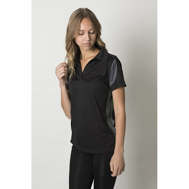 1f8ae6a86f Ladies polo with contrast soft touch heather sleeves - BKP800L - Workwear  Clothing Online