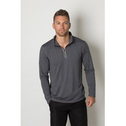 Mens charcoal heather long sleeve top - BKHZ450