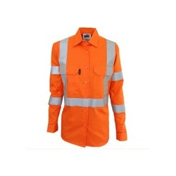 LADIES HIVIS X BACK BIOMOTION TAPED SHIRT - 3544