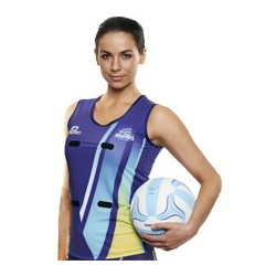Sublimated 'DYO' Sports Netball Singlet - AP Netball Singlet