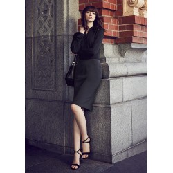 Womens Bandless Pencil Skirt - 20717