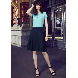 Womens Bandless Flared Skirt - 20718