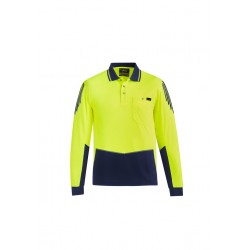 Men's Hi Vis Flux l/s polo - ZH310