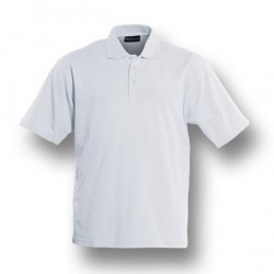 PLAIN COLOUR POLY FACE COTTON BACKING S/S POLO - CP1601