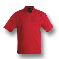 KIDS PLAIN COLOUR POLY FACE COTTON BACKING S/S POLO - CP1602