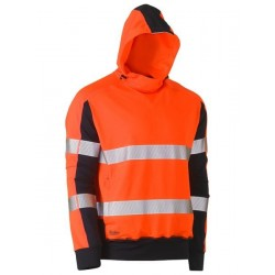 Taped Hi Vis Stretchy Fleece Hoodie - BK6815T