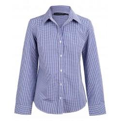 Ladies Two Tone Gingham Long Sleeve Shirt - M8320L