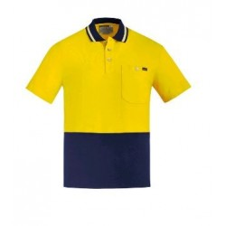 Mens Hi Vis Cotton S/S Polo - ZH435