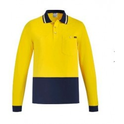 Mens Hi Vis Cotton L/S Polo - ZH430