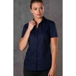 Ladies Taped Seam Barkley Short Sleeve Shirt - M8110S