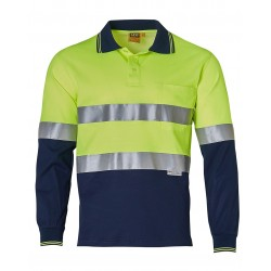 Men's TrueDry® Safety Long Sleeves Polo with 3M Reflective Tape - SW21A