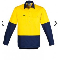 Mens Hi Vis Closed Front L/S Shirt - ZW560