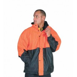 300D Polyester/PU HiVis Two Tone Classic Jacket - 3866