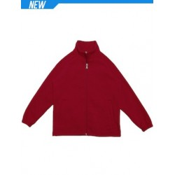 Unisex Adults Poly/Cotton Fleece Zip Through Jacket - CJ1585