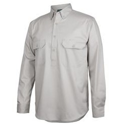 C OF C LONGREACH L/S 150G C/FRONT SHIRT - 4LLC