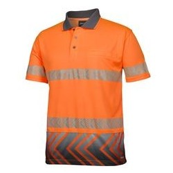 JB's S/S ARROW SUB POLO WITH SEGMENTED TAPE - 6HAS