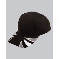 Tri-Colour Heavy Brushed Cotton Contrast Cap - CH80