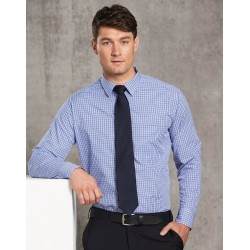 Mens Two Tone Gingham Long Sleeve Shirt - M7320L