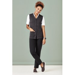 Womens Button Front Vest - CK961LV