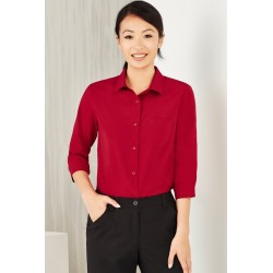 Womens Plain 3/4 Sleeve shirt - CS951LT