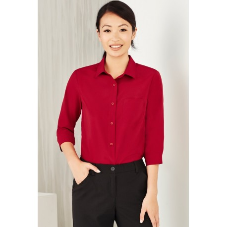 Womens Plain 3/4 Sleeve shirt - CS951LT