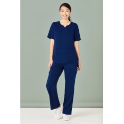 Womens Round Neck Scrub Top - CST942LS