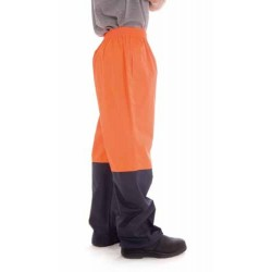 190D Polyester/PU HiVis Two Tone Light Weight Rain Pant - 3878