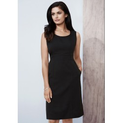 Womens Sleeveless Side Zip Dress - 30111