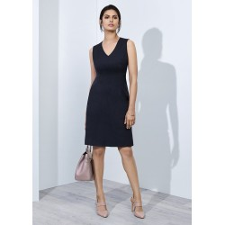 Womens Sleeveless V Neck Dress - 30121