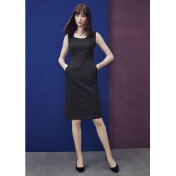 Womens Sleeveless Side Zip Dress - 34011