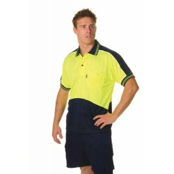175gsm HiVis Cool Breathe Panel Polo Shirt, S/S - 3891
