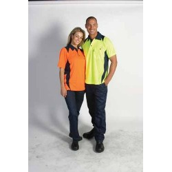 175gsm HiVis Cool Breathe Action Polo Shirt, S/S - 3893
