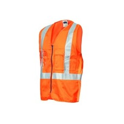 190gsm Day/Night Cross Back Cotton Safety Vest, 3M8906 R/Tape - 3810