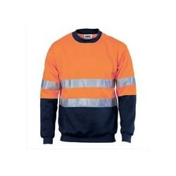 300gsm Polyester Cotton HiVis Two Tone Sweatshirt (Sloppy Joe) - 3824