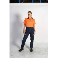 175gsm Polyester Ladies HiVis Two Tone Polo, S/S - 3897