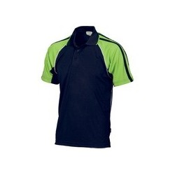 175gsm Polyester Adult Cool-Breathe Twin Stripe Contrast Raglan Polo - 5222