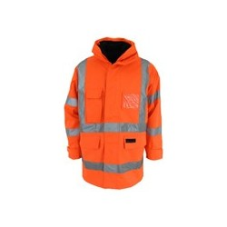 "HiVis ""6 in 1"" Breathable ""H""pattern Rain Jacket Bio-motion tape - 3572"