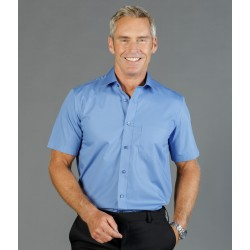 Mens Premium Poplin (Short Sleeve Shirt) - 1272S