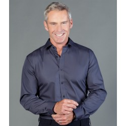 Mens Premium Poplin (Long Sleeve Slim Shirt) - 1520L