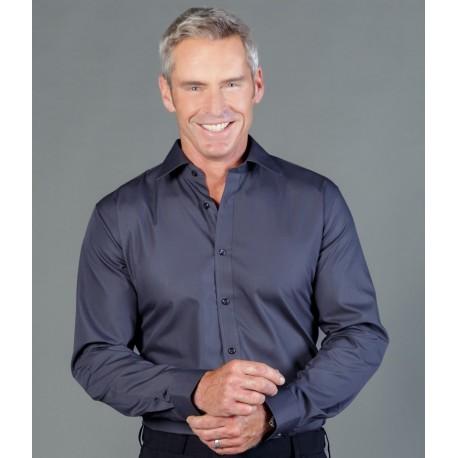 Mens Premium Poplin (Long Sleeve Slim Shirt) - 1520L