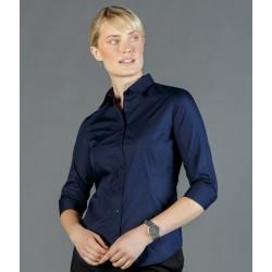 Womens Premium Poplin 3/4 Sleeve Shirt - 1520WZ