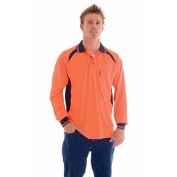 Cool-Breeze Contrast Mesh Polo L/S - 3902