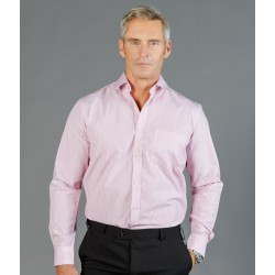 Mens Dobby Stripe (Long Sleeve Shirt) - 1891L