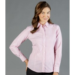 Womens Dobby Stripe (Long Sleeve Shirt) - 1891WL