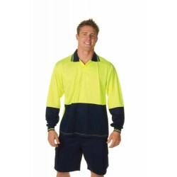 175gsm Polyester HiVis Food Industry Polo, L/S - 3904