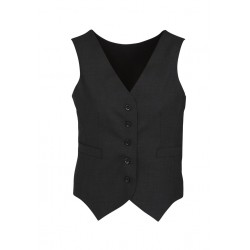 Womens Peaked Vest with Knitted Back - 54011