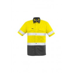 Mens Rugged Cooling Taped Hi Vis Spliced S/S Shirt - ZW835